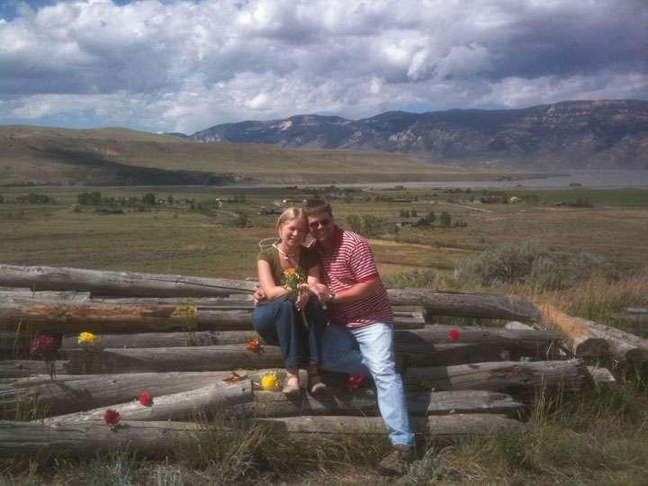ken and jen at the ranch