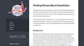 helping heroes burn foundation